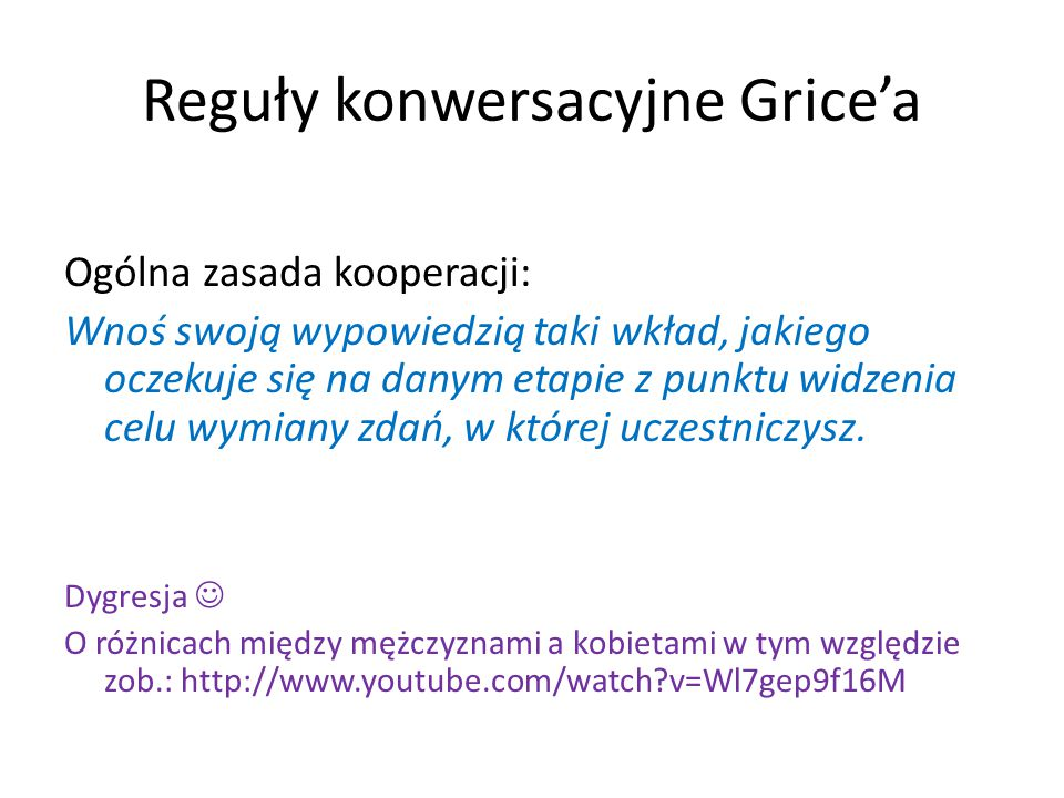 Reguły konwersacyjne Grice'a