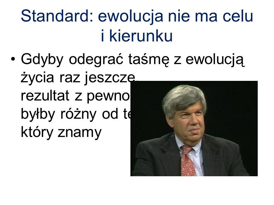 Standard: ewolucja nie ma celu i kierunku