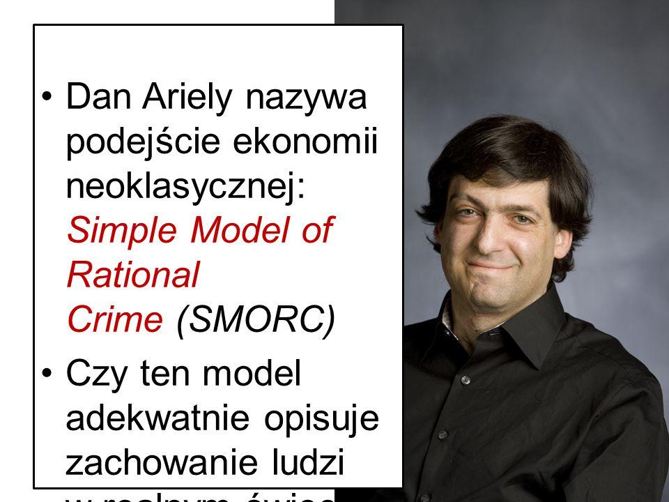 Dan Ariely nazywa podejście ekonomii neoklasycznej: Simple Model of Rational Crime (SMORC)