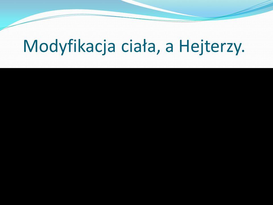 Modyfikacja ciała, a Hejterzy.