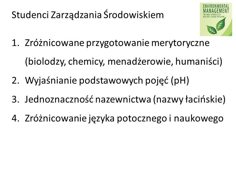 Studenci Zarządzania Środowiskiem