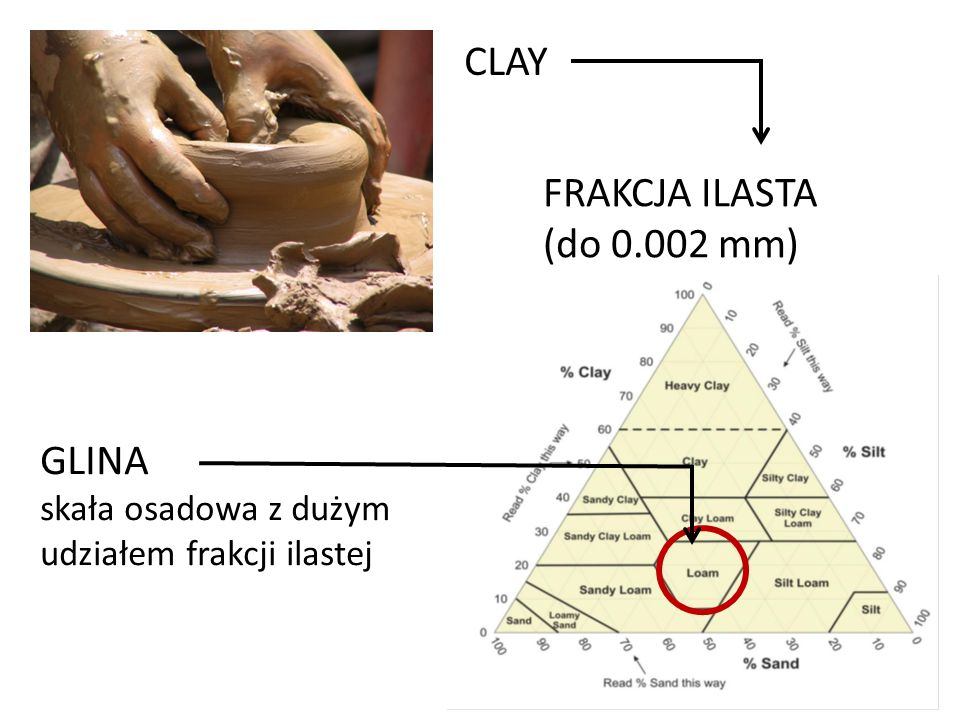 CLAY FRAKCJA ILASTA (do 0.002 mm) GLINA