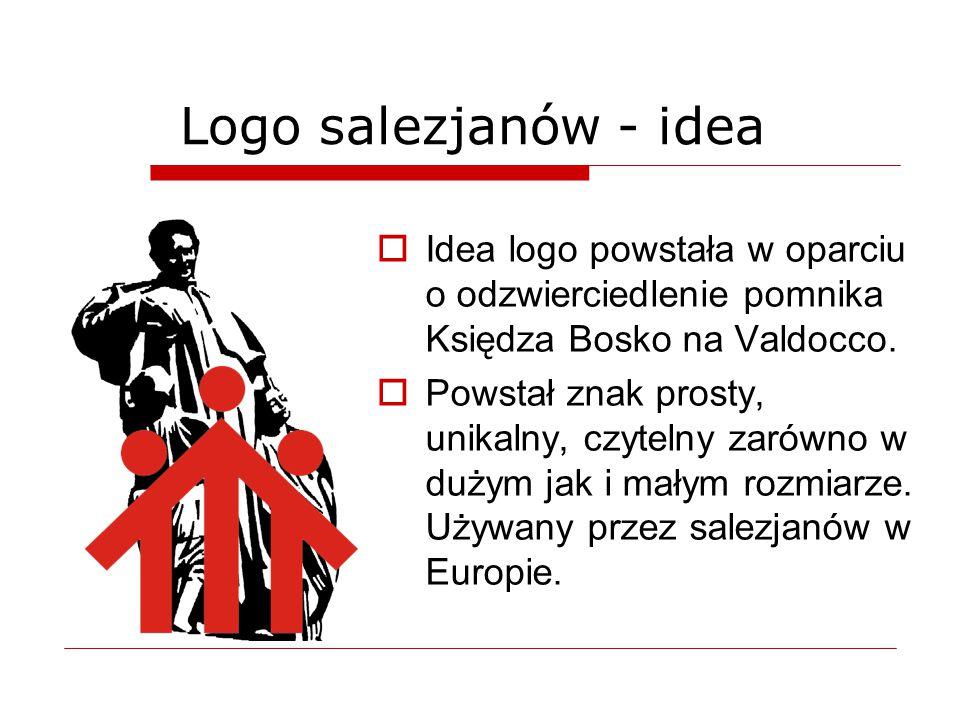 Logo salezjanów - idea Idea logo powstała w oparciu o odzwierciedlenie pomnika Księdza Bosko na Valdocco.