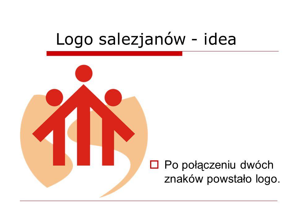 Logo salezjanów - idea Po połączeniu dwóch znaków powstało logo. 4