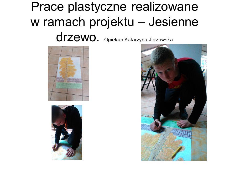 Prace plastyczne realizowane w ramach projektu – Jesienne drzewo
