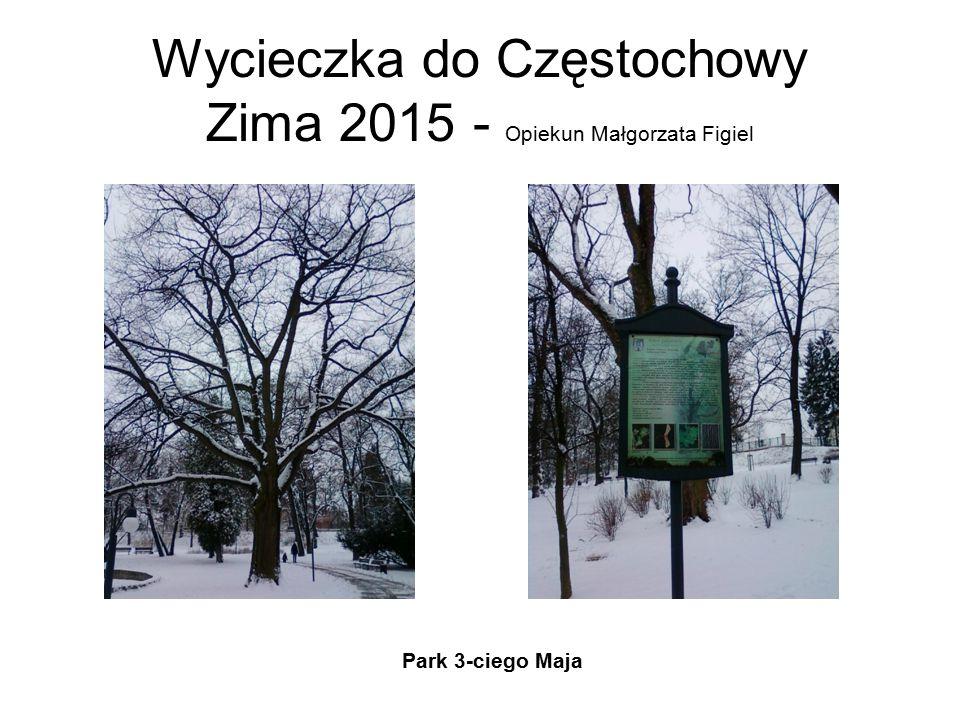 Wycieczka do Częstochowy Zima 2015 - Opiekun Małgorzata Figiel