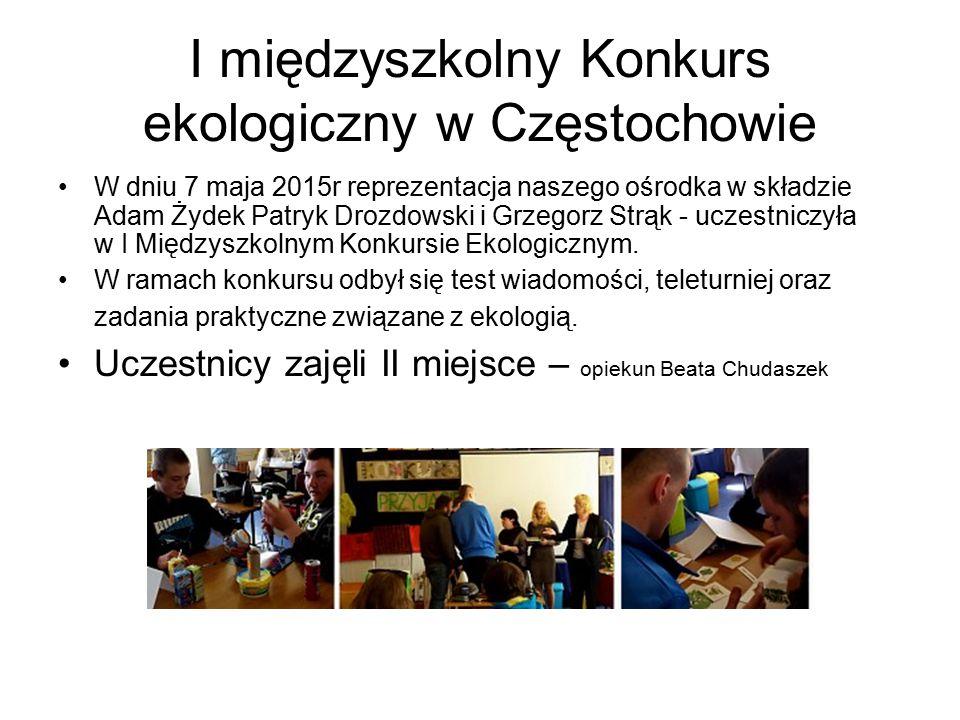 I międzyszkolny Konkurs ekologiczny w Częstochowie