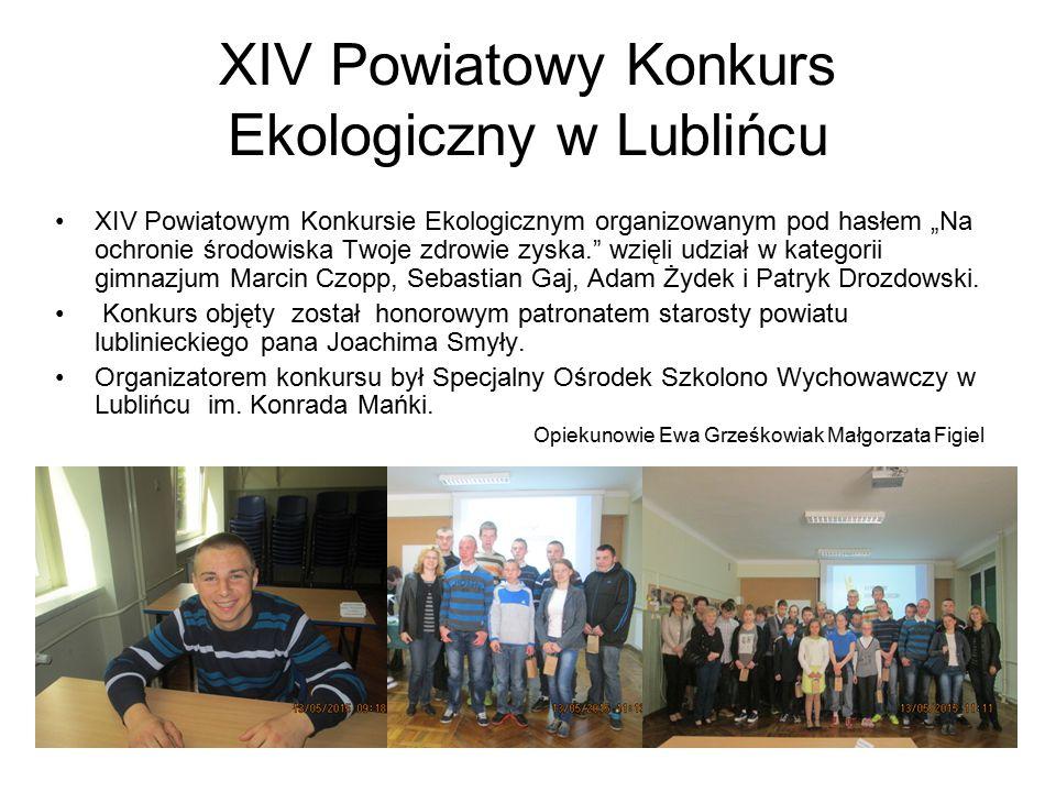 XIV Powiatowy Konkurs Ekologiczny w Lublińcu