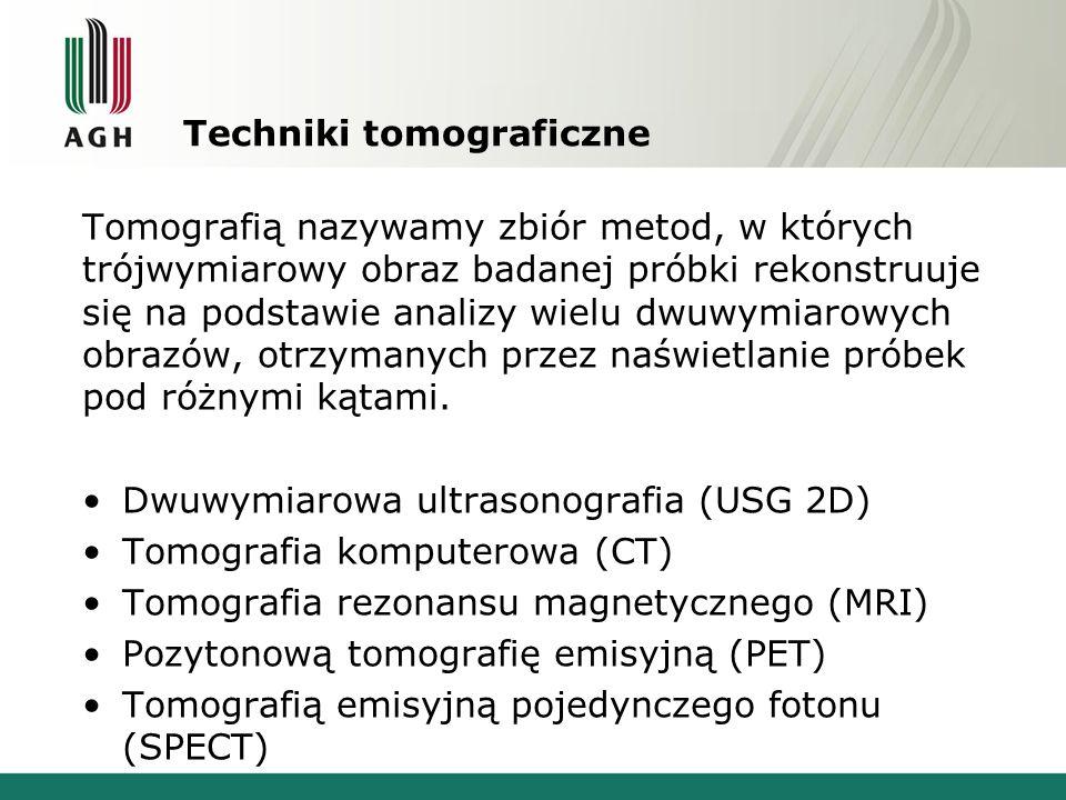 Techniki tomograficzne