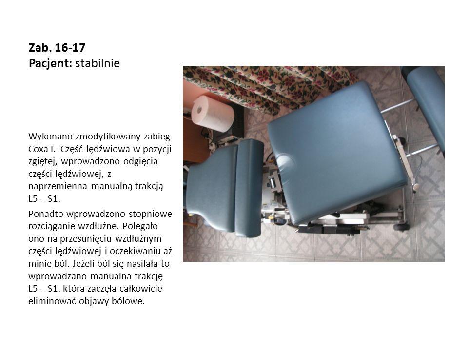 Zab. 16-17 Pacjent: stabilnie