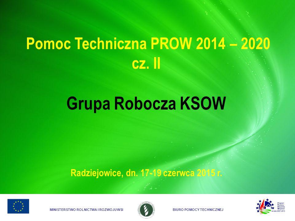Grupa Robocza KSOW Pomoc Techniczna PROW 2014 – 2020 cz. II
