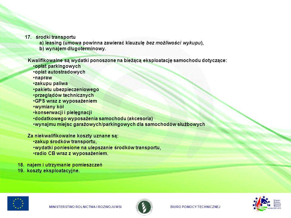 a) leasing (umowa powinna zawierać klauzulę bez możliwości wykupu),