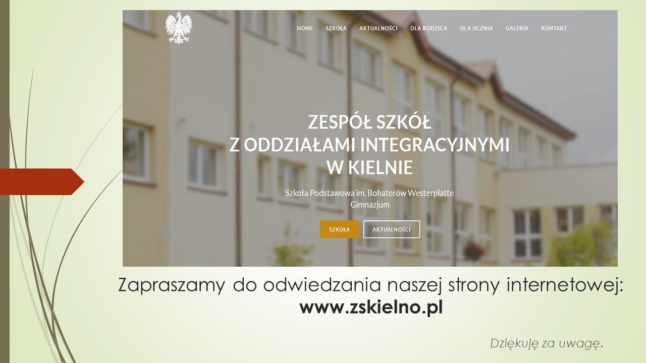 Zapraszamy do odwiedzania naszej strony internetowej: www.zskielno.pl
