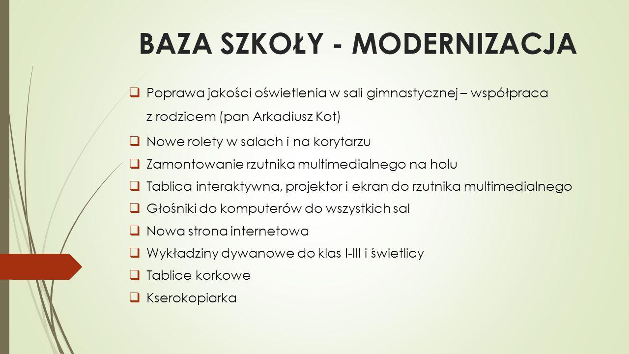 BAZA SZKOŁY - MODERNIZACJA
