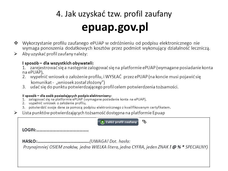 4. Jak uzyskać tzw. profil zaufany epuap.gov.pl