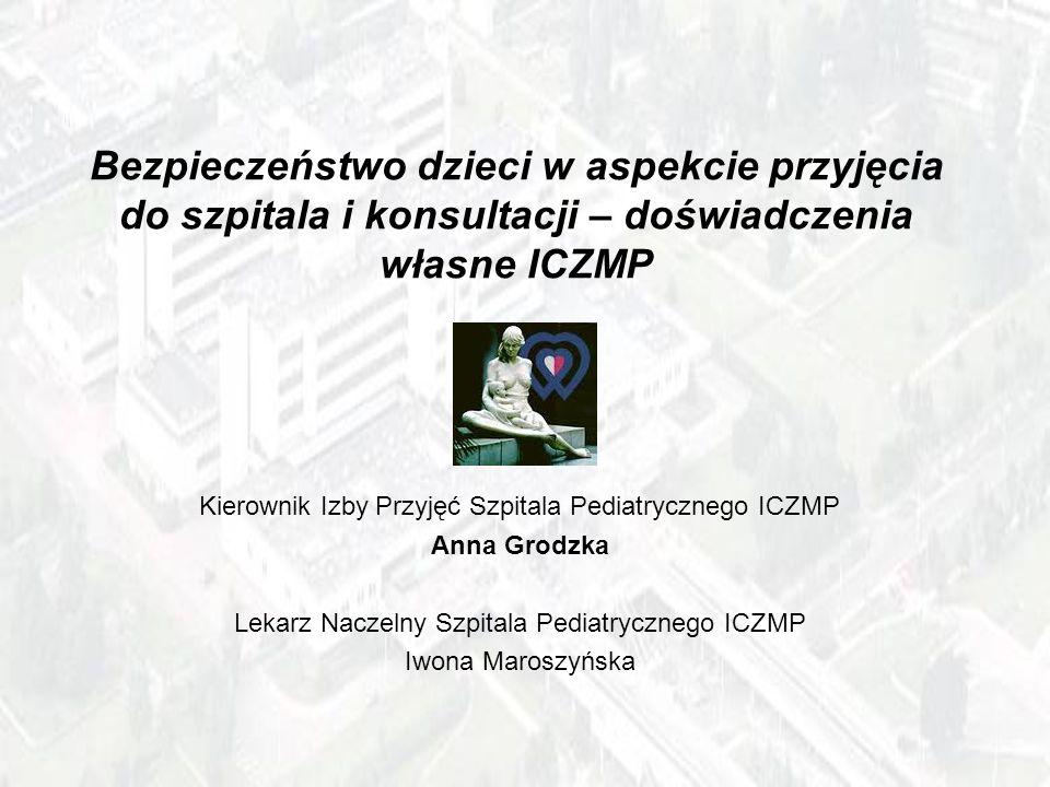 Bezpieczeństwo dzieci w aspekcie przyjęcia do szpitala i konsultacji – doświadczenia własne ICZMP