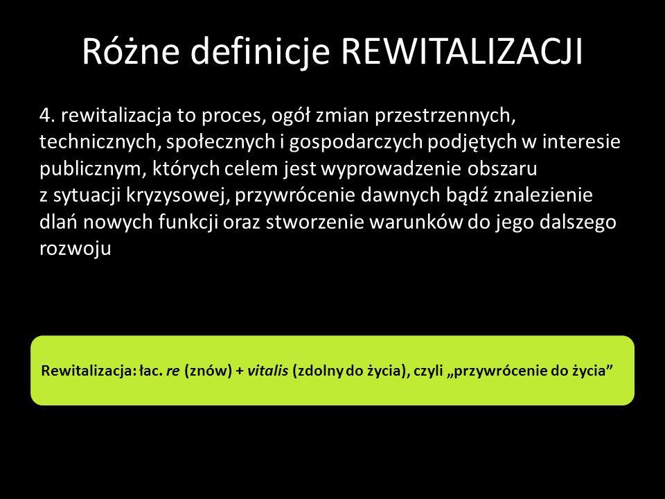 Różne definicje REWITALIZACJI