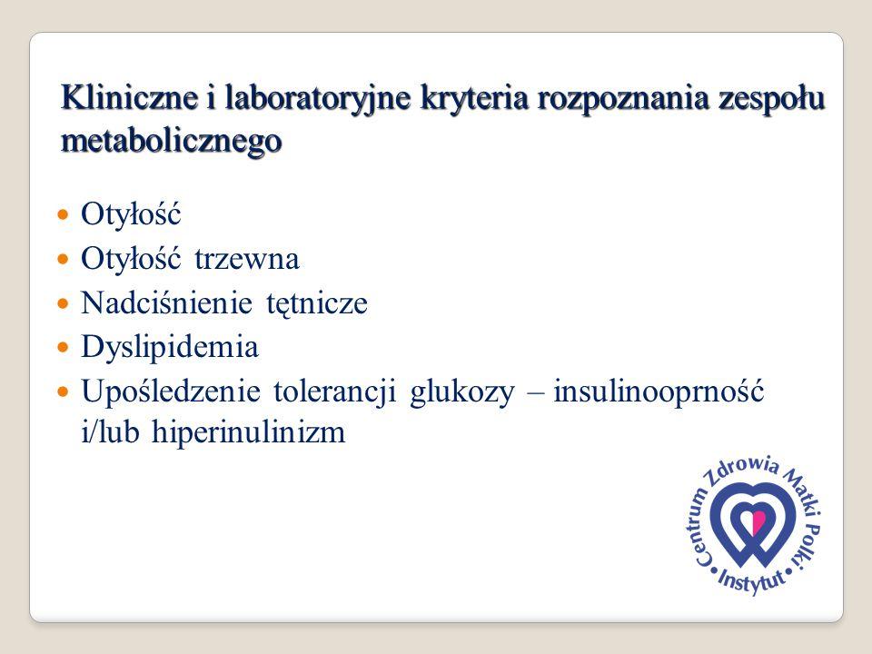 Kliniczne i laboratoryjne kryteria rozpoznania zespołu metabolicznego