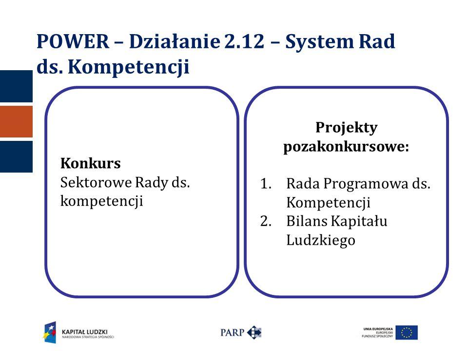 POWER – Działanie 2.12 – System Rad ds. Kompetencji