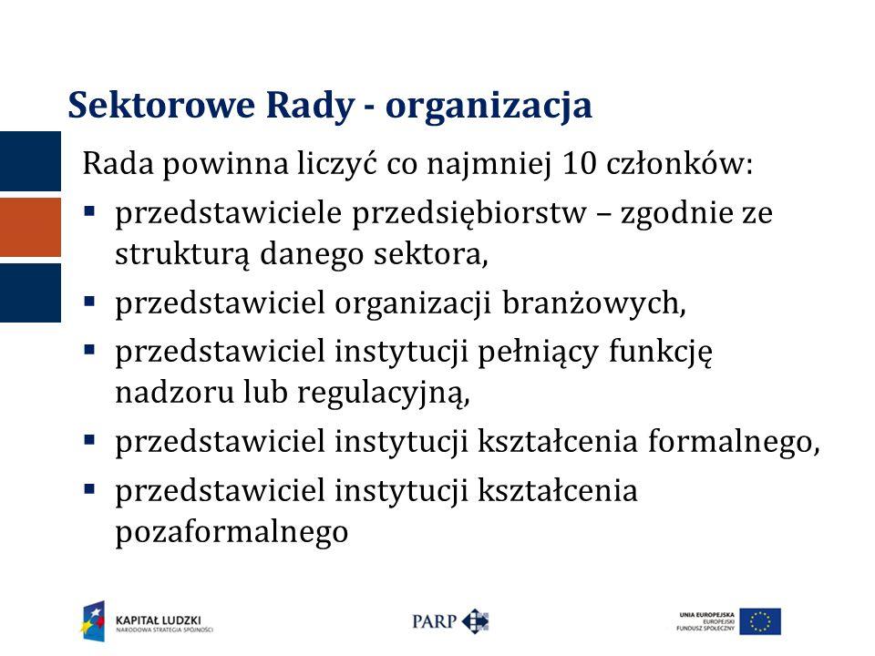 Sektorowe Rady - organizacja