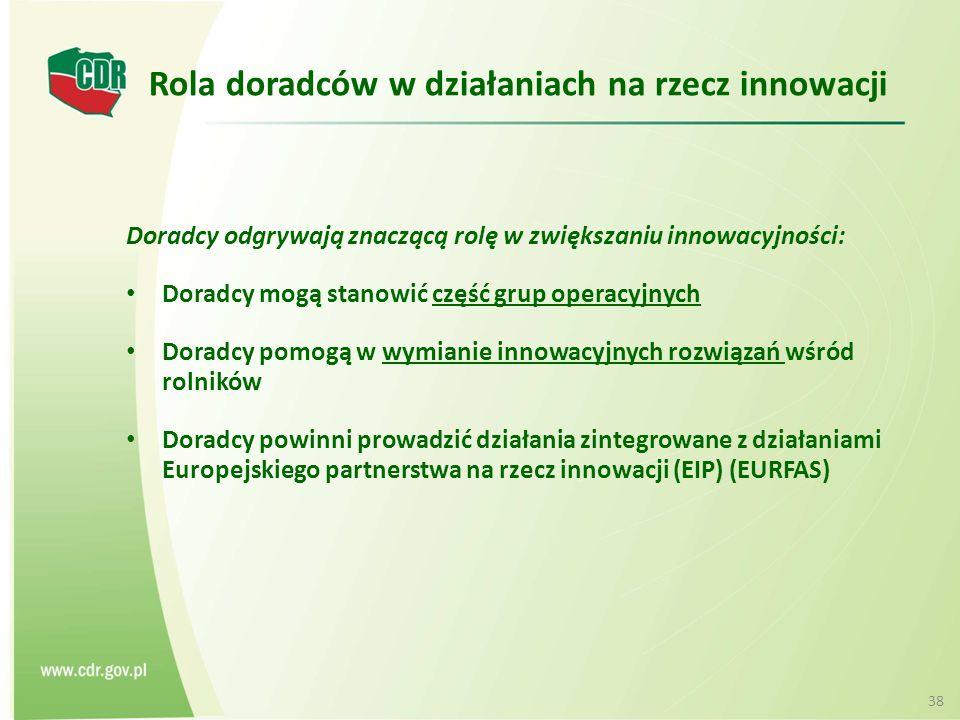 Rola doradców w działaniach na rzecz innowacji