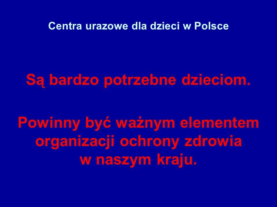 Centra urazowe dla dzieci w Polsce