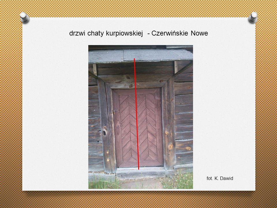 drzwi chaty kurpiowskiej - Czerwińskie Nowe