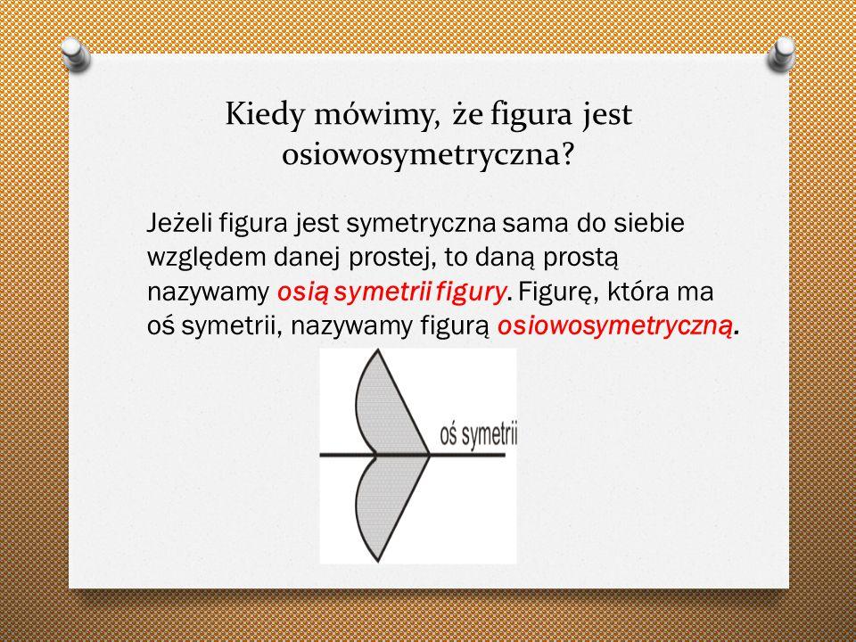 Kiedy mówimy, że figura jest osiowosymetryczna