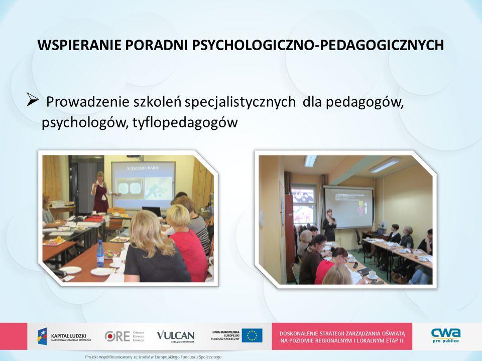 WSPIERANIE PORADNI PSYCHOLOGICZNO-PEDAGOGICZNYCH