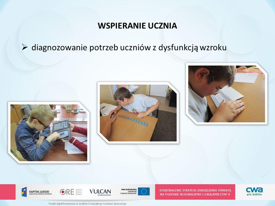 WSPIERANIE UCZNIA diagnozowanie potrzeb uczniów z dysfunkcją wzroku