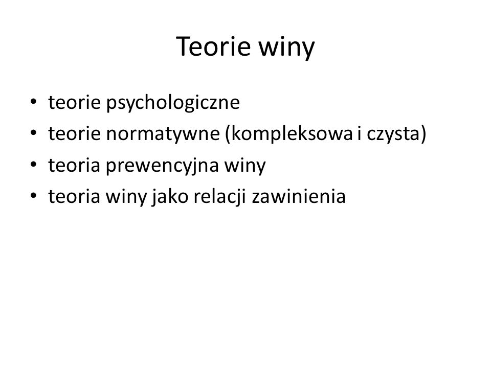 Teorie winy teorie psychologiczne