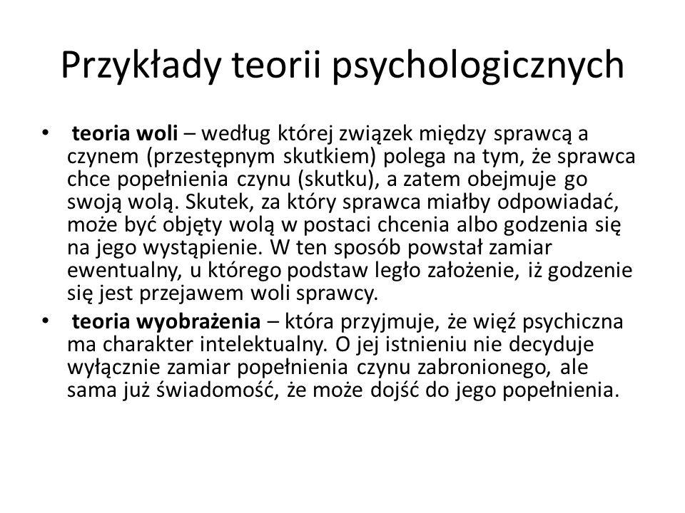 Przykłady teorii psychologicznych