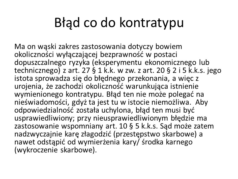 Błąd co do kontratypu