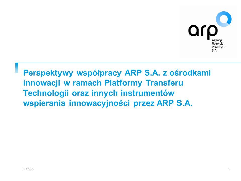 Perspektywy współpracy ARP S. A