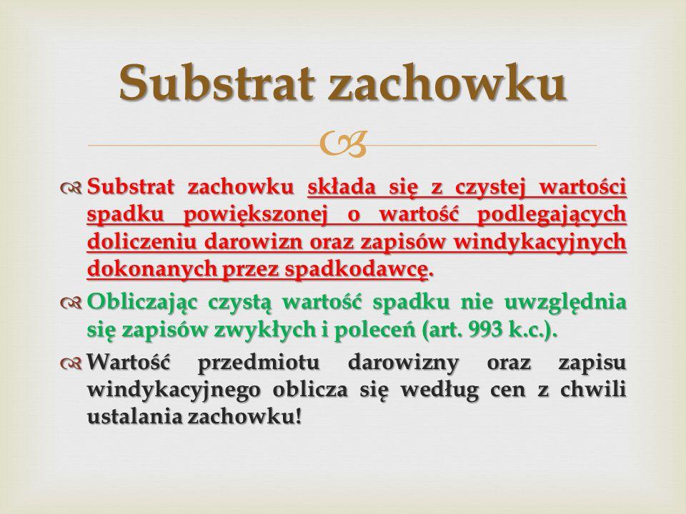 Substrat zachowku