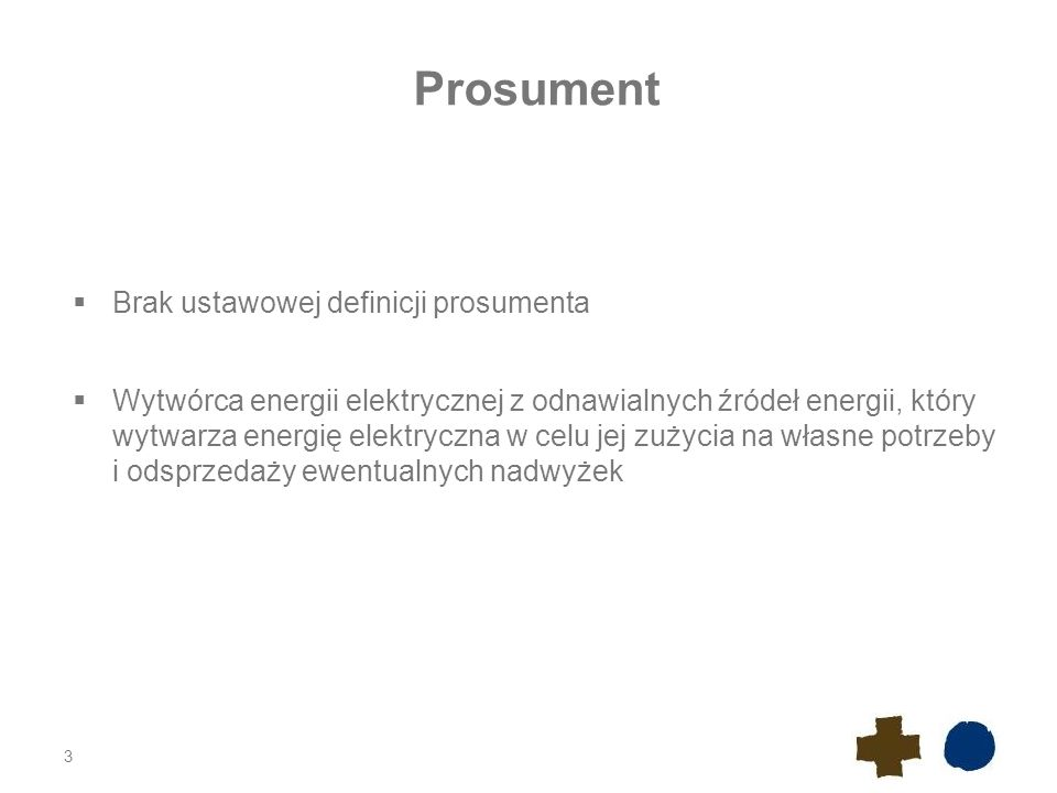 Prosument Brak ustawowej definicji prosumenta