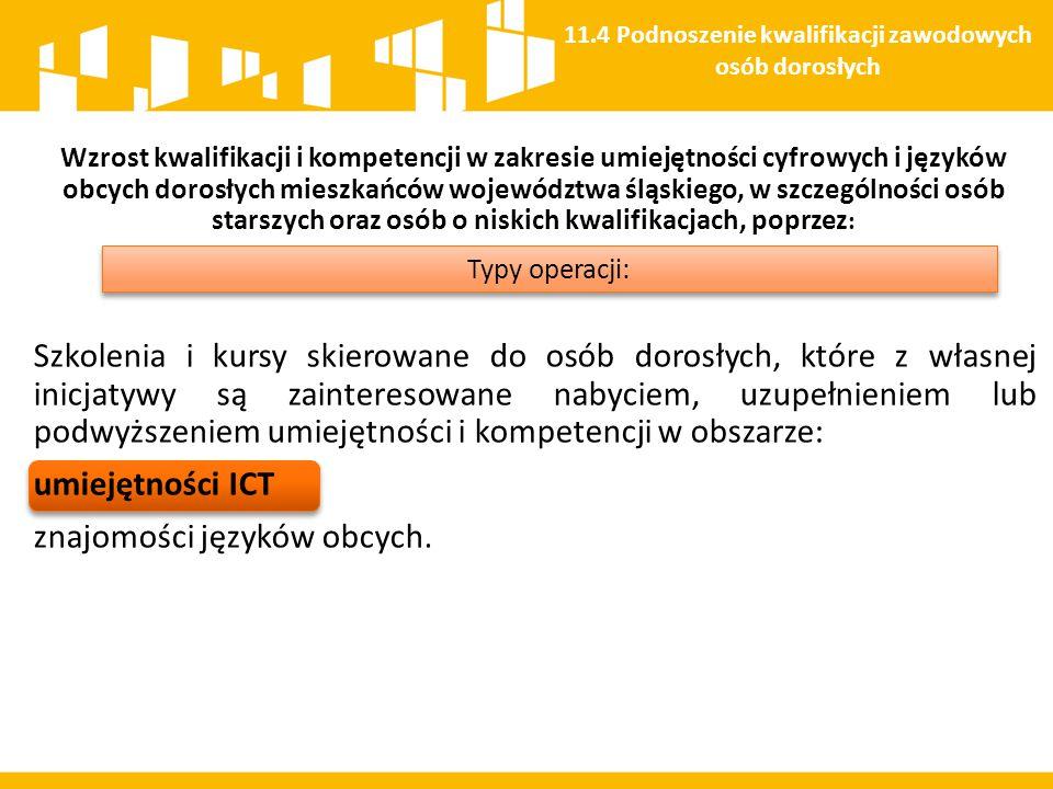 11.4 Podnoszenie kwalifikacji zawodowych osób dorosłych