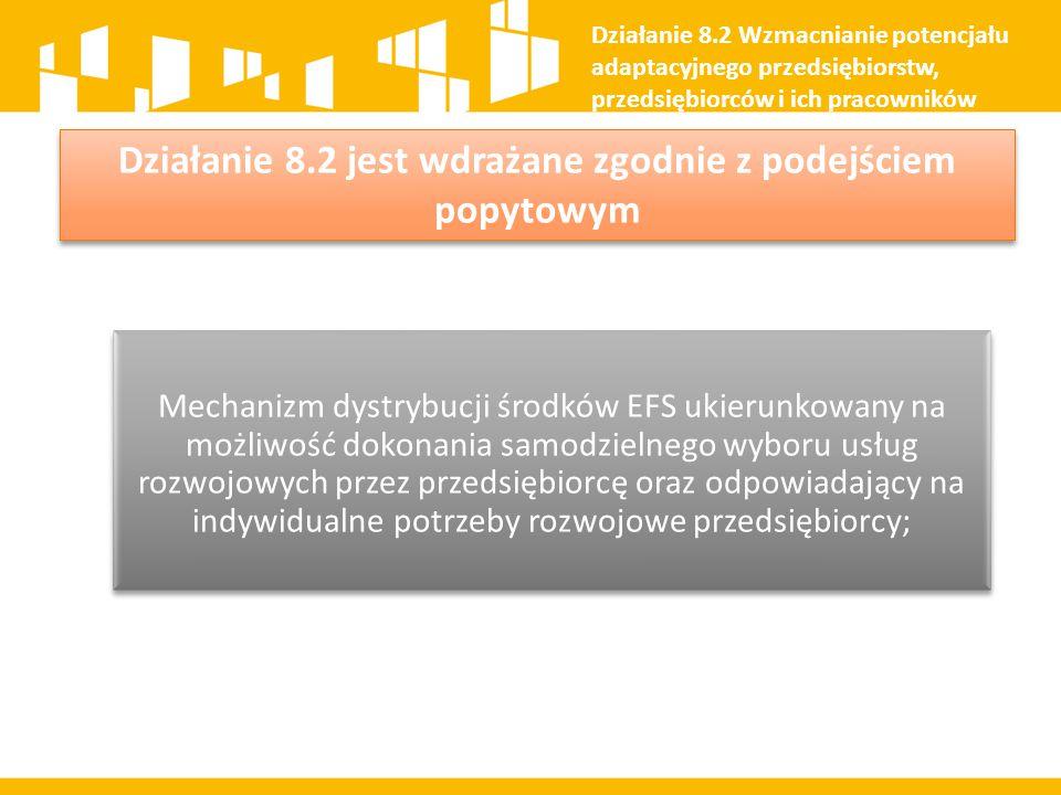 Działanie 8.2 jest wdrażane zgodnie z podejściem popytowym