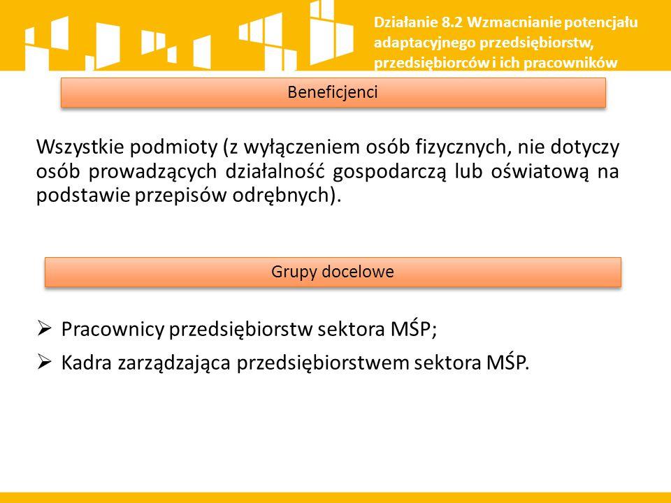 Pracownicy przedsiębiorstw sektora MŚP;