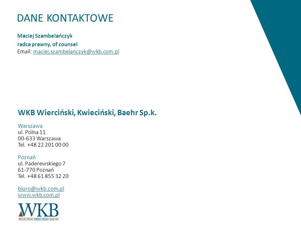 DANE KONTAKTOWE WKB Wierciński, Kwieciński, Baehr Sp.k.