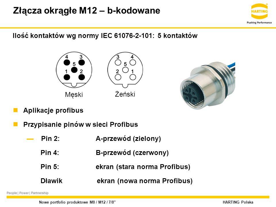 Złącza okrągłe M12 – b-kodowane