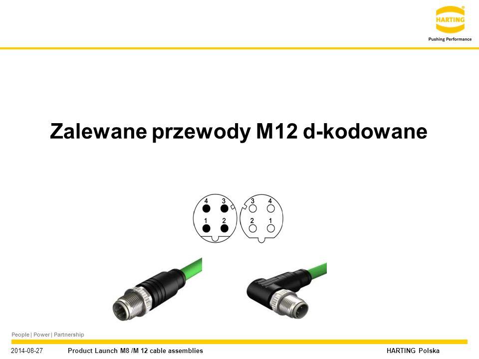 Zalewane przewody M12 d-kodowane