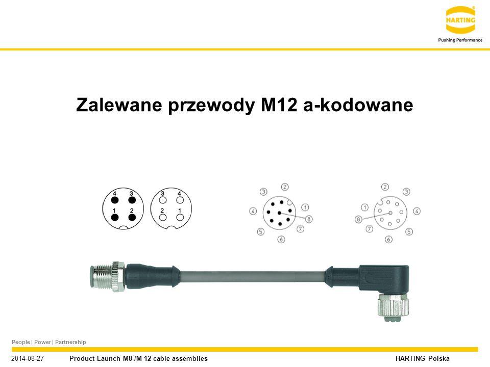 Zalewane przewody M12 a-kodowane