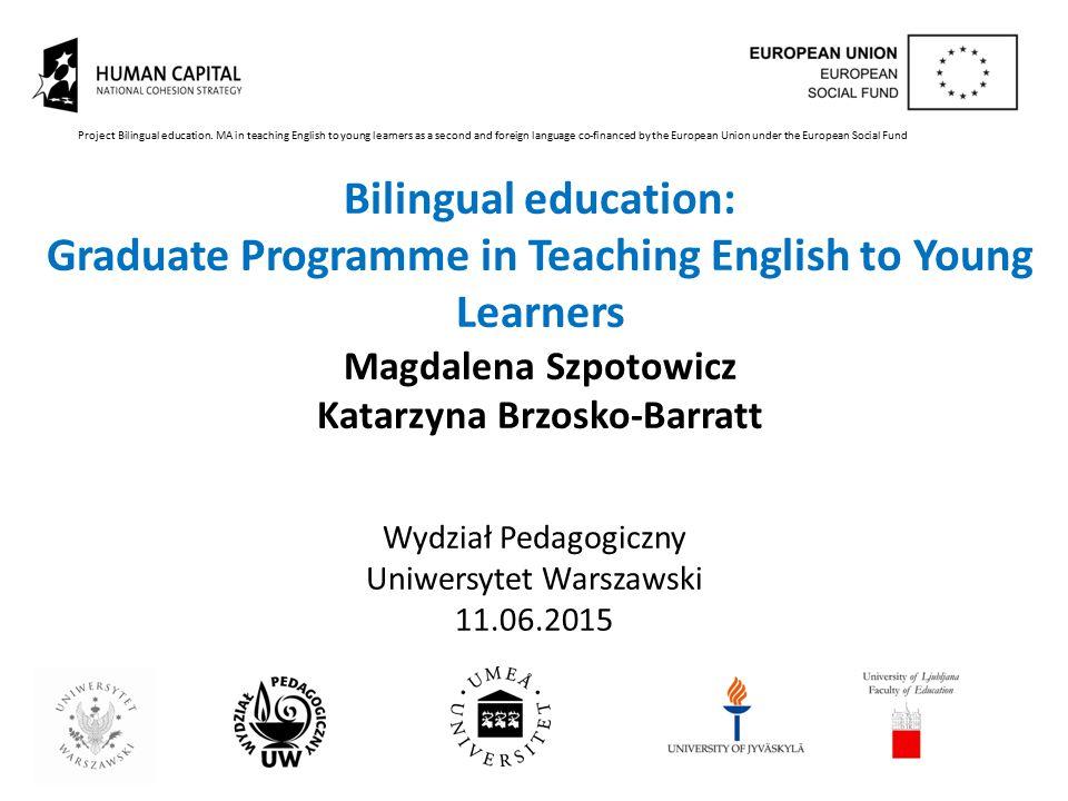 Wydział Pedagogiczny Uniwersytet Warszawski 11.06.2015