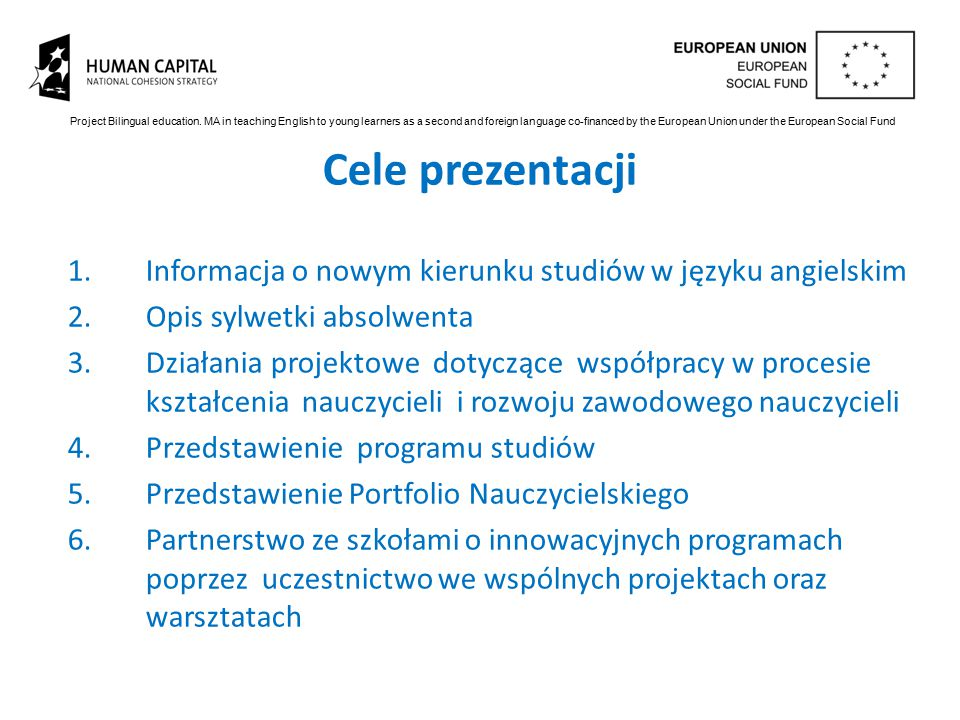 Project Bilingual education