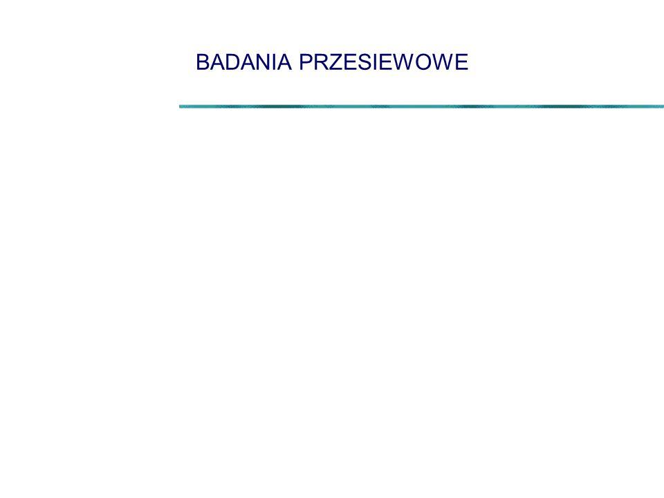 BADANIA PRZESIEWOWE