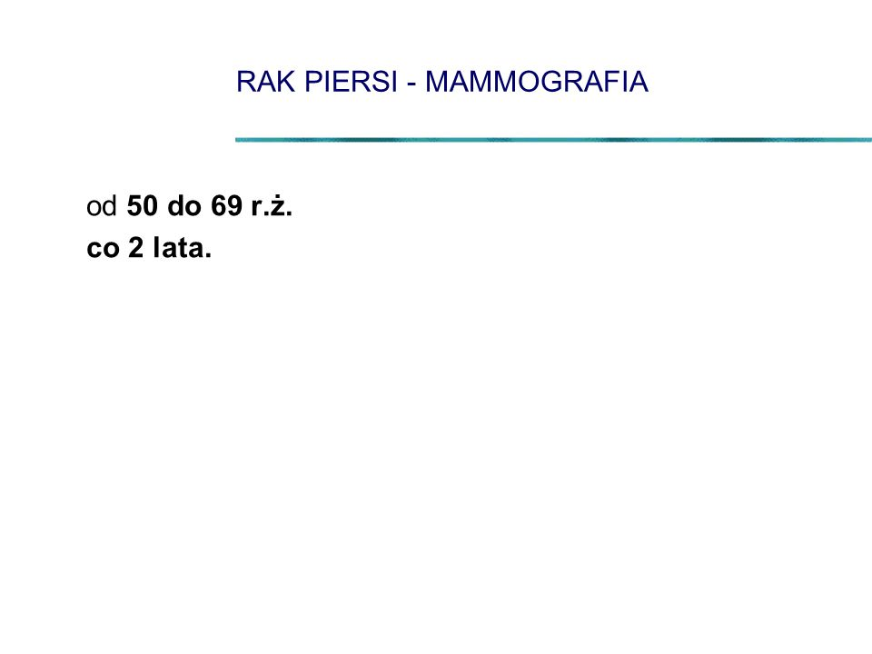 RAK PIERSI - MAMMOGRAFIA