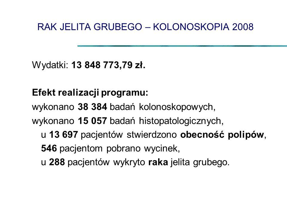 RAK JELITA GRUBEGO – KOLONOSKOPIA 2008