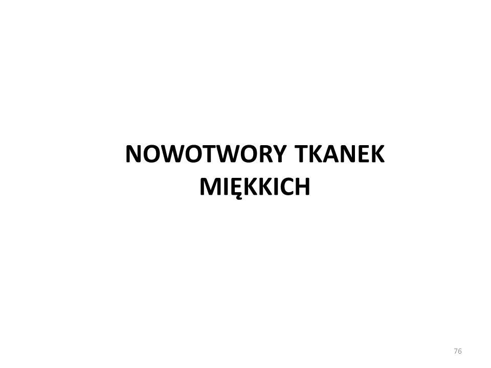 NOWOTWORY TKANEK MIĘKKICH