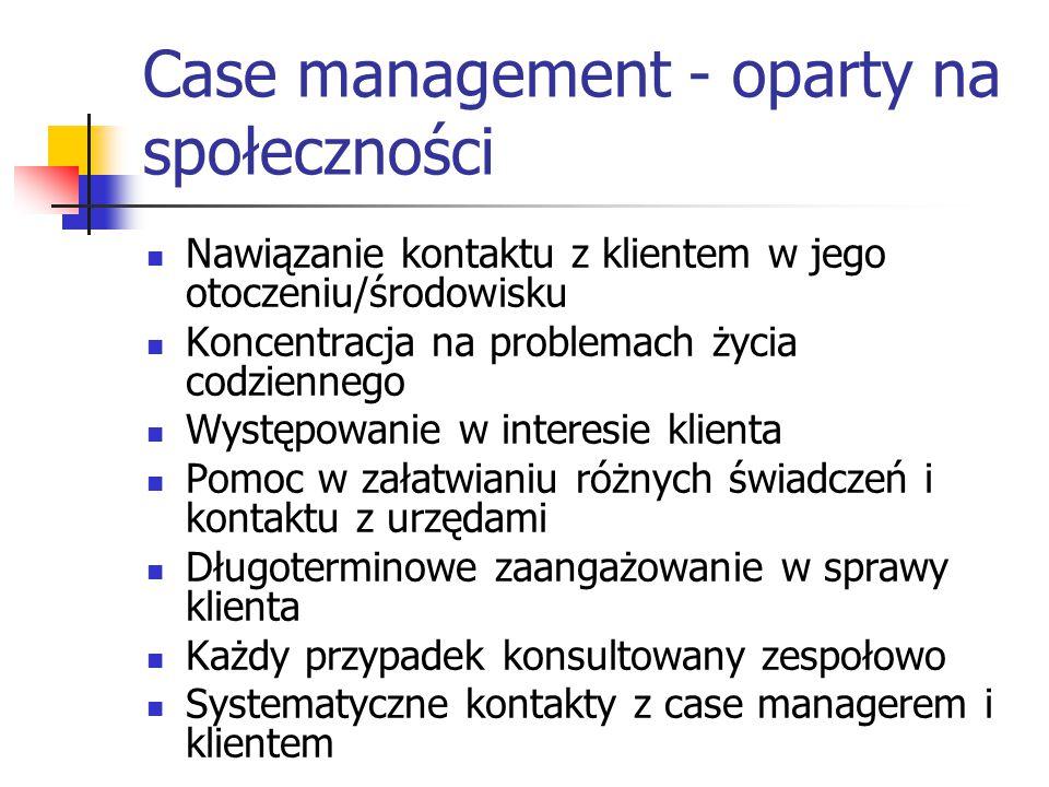 Case management - oparty na społeczności